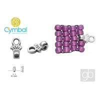 CYMBAL PILOS 8/0 BEADS  ending Silber